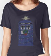 Police Box Christmas Knit Women's Relaxed Fit T-Shirt