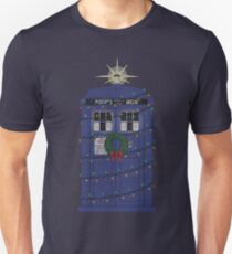 Police Box Christmas Knit Unisex T-Shirt