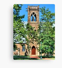 Bell Tower Stone Church Architecture Canvas Print