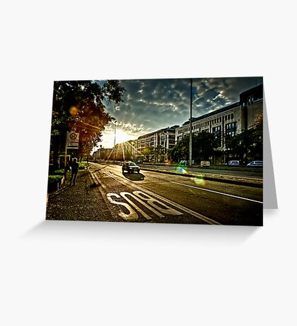 Backlight City Greeting Card
