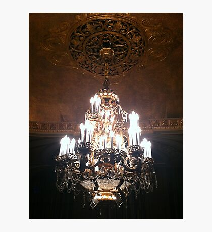 Chandelier. I like to say that word. Photographic Print