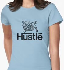 Hustlé - black print Womens Fitted T-Shirt
