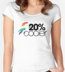 20% Cooler! (ALL options) - WHITE Women's Fitted Scoop T-Shirt