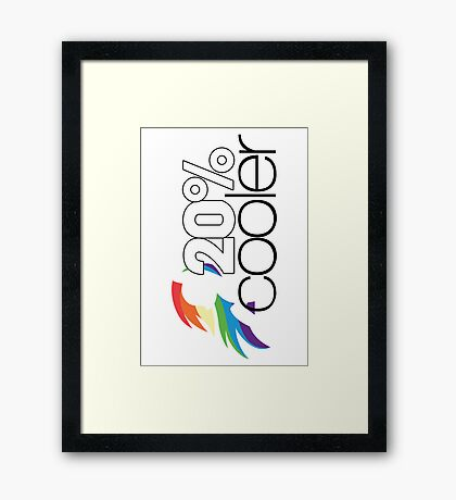 20% Cooler! (ALL options) - WHITE Framed Print