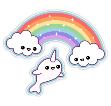 Quot Flying Narwhal Quot Stickers By Sugarhai Redbubble