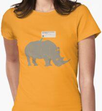 #Rhino #Savanna Womens Fitted T-Shirt