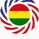 Bolivian American Multinational Patriot Flag Series by Carbon-Fibre Media