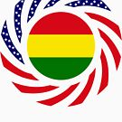 Bolivian American Multinational Patriot Flag Series by Carbon-Fibre Media