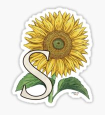 S is for Sunflower - floating Sticker