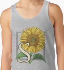 S is for Sunflower - floating Tank Top