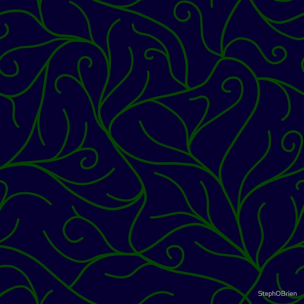 Blue Velvet, Green Vines by StephOBrien