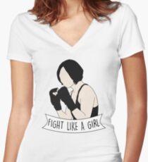 Fight Like Sun Bak Women's Fitted V-Neck T-Shirt