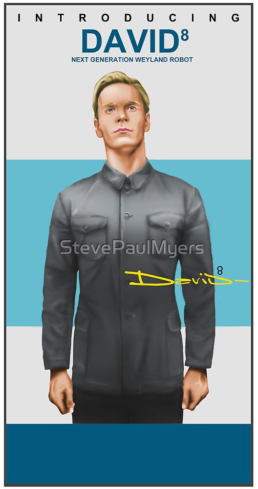 Michael Fassbender as David 8 by StevePaulMyers