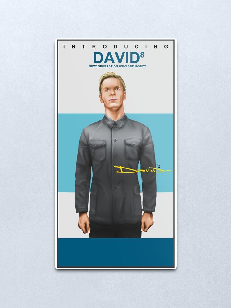 Alternate view of Michael Fassbender as David 8 Metal Print