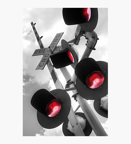 Railroad Crossing Photographic Print