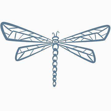 Stream Blue Dragonfly  by HootOwlPress