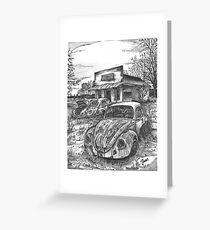 VW junkyard Greeting Card
