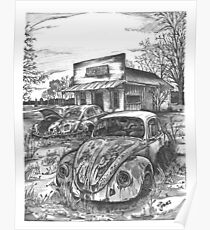 VW junkyard Poster