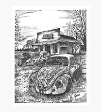VW junkyard Photographic Print