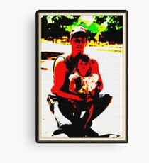 me and my daughter 2001 Canvas Print