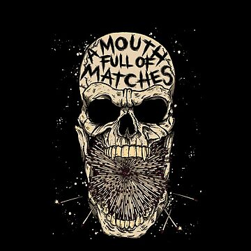 A Mouth Full Of Matches - Skull & Matches iPod Case! (BLACK) by AMFOM