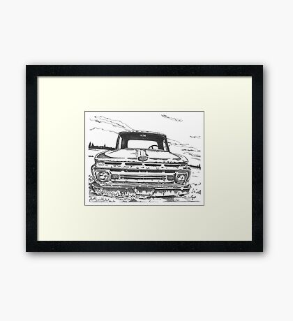FORD truck in GA Framed Print