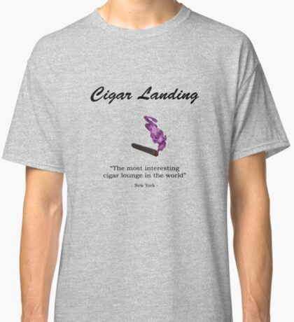 Cigar Landing T-Shirt, New York City Cigar Lounge Classic T-Shirt