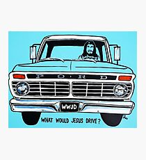 WWJD ? FORD Photographic Print