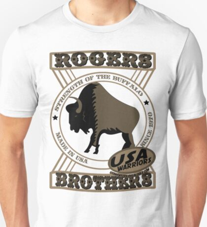 usa warriors buffalo by rogers bros T-Shirt