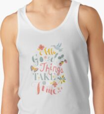 All Good Things - Hand Lettering Inspiring Quote Tank Top