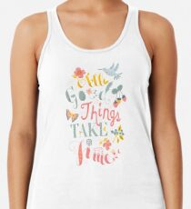 All Good Things - Hand Lettering Inspiring Quote Racerback Tank Top