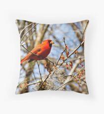 Cardinal in Tree Throw Pillow