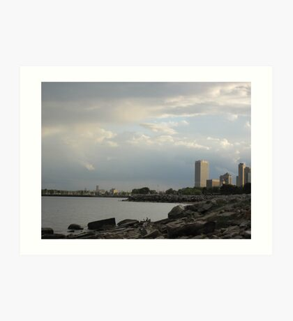 Milwaukee Cityscape 08 19 2012 Art Print