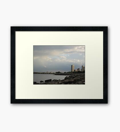 Milwaukee Cityscape 08 19 2012 Framed Print