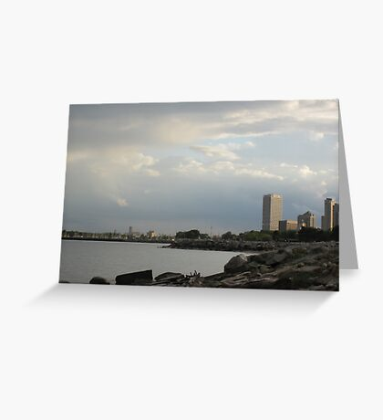 Milwaukee Cityscape 08 19 2012 Greeting Card