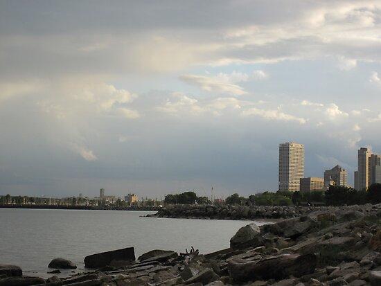 Milwaukee Cityscape 08 19 2012 by Thomas Murphy