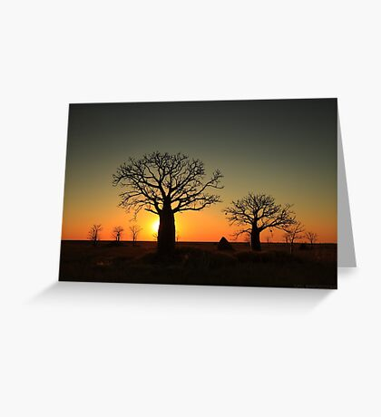 Sunset on the flats Greeting Card
