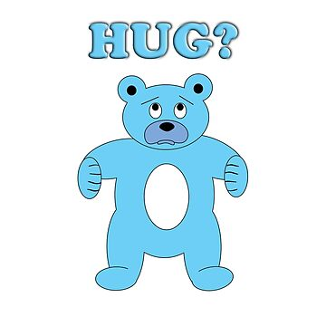Sad Blue Bear - Hug? by sruhs