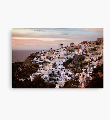 Oia at Sunset Canvas Print