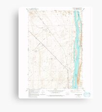 USGS Topo Map Washington State WA Wooden Island 244781 1978 24000 Canvas Print