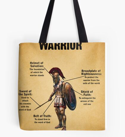 The Christian Warrior Tote Bag