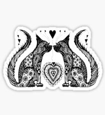 Two Cat Tangle Sticker