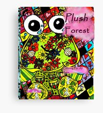 Plush forest coloring book cover Canvas Print