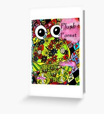 Plush forest coloring book cover Greeting Card