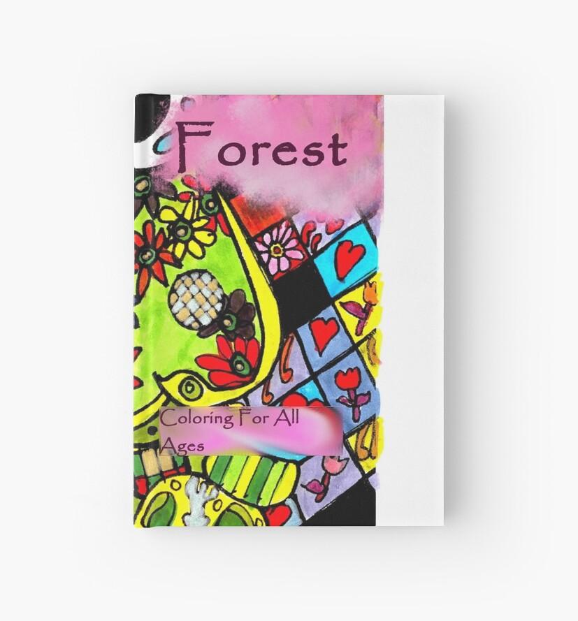 Cuadernos de tapa dura «Cubierta de libro para colorear de bosque de ...