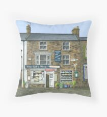 Reeth Gift Shop, Swaledale Throw Pillow