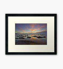 Bateau Bay, NSW Sunrise Framed Print
