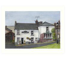 Reeth Ice Cream Parlour, Swaledale Art Print
