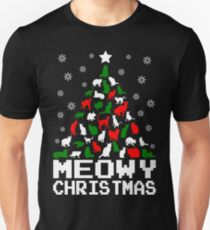 Meowy Christmas Cat Tree Unisex T-Shirt