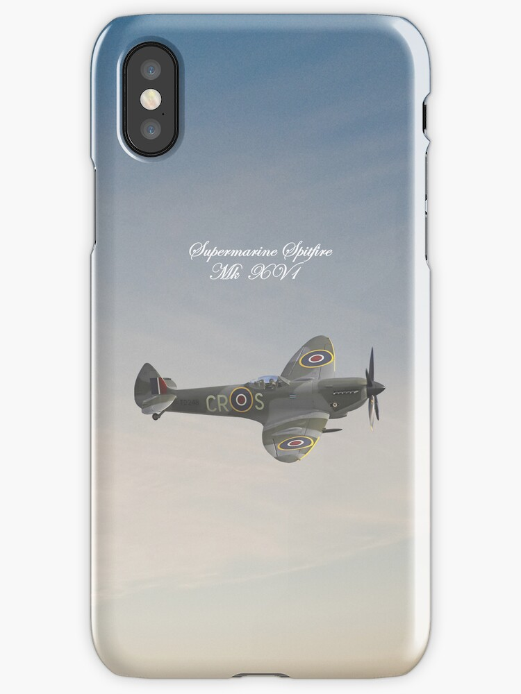 Supermarine Spitfire MkXV1 iPhone Case by Catherine Hamilton-Veal  ©